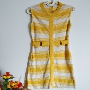 Vintage 1960s MOD Striped Mini Dress